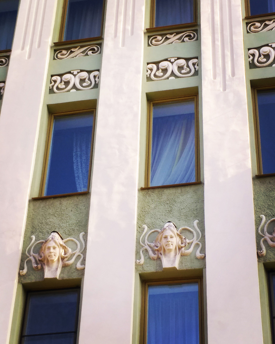 Снова красивые фасады... Санкт-Петербург, Фурштатская ул., 28. Дом М. Е. Зенкевич. 1901 г. — архитектор К. В. Бальди.