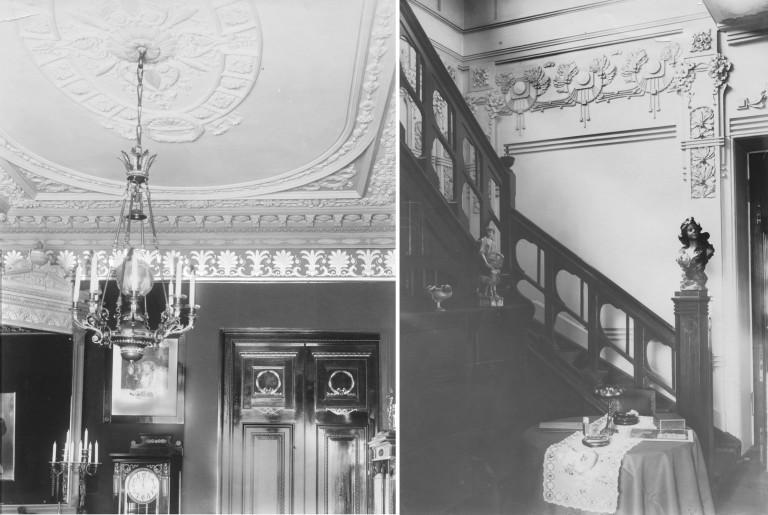 Интерьер дачи. Фото до 1917 г