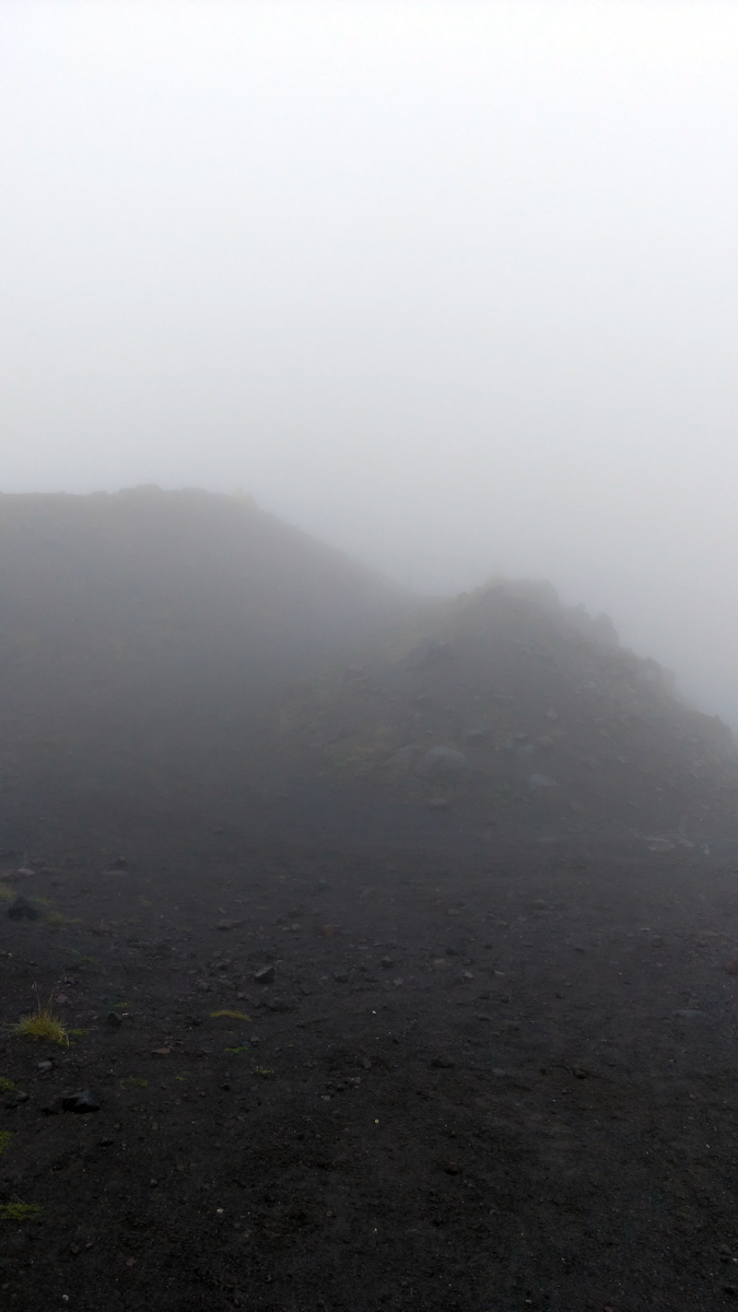 Еще немного подъема и вот ворота Обсерватории... Видите? Я тоже. Но они где-то здесь. И в какой-то момент я их разглядел. Но смысла к ним подходить вплотную нет. Обсерваторию все равно не разглядеть в таком тумане...