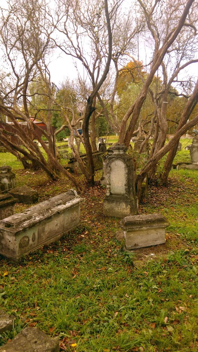Очень понравилось сочетание надгробий и стволов расположенных по кругу...