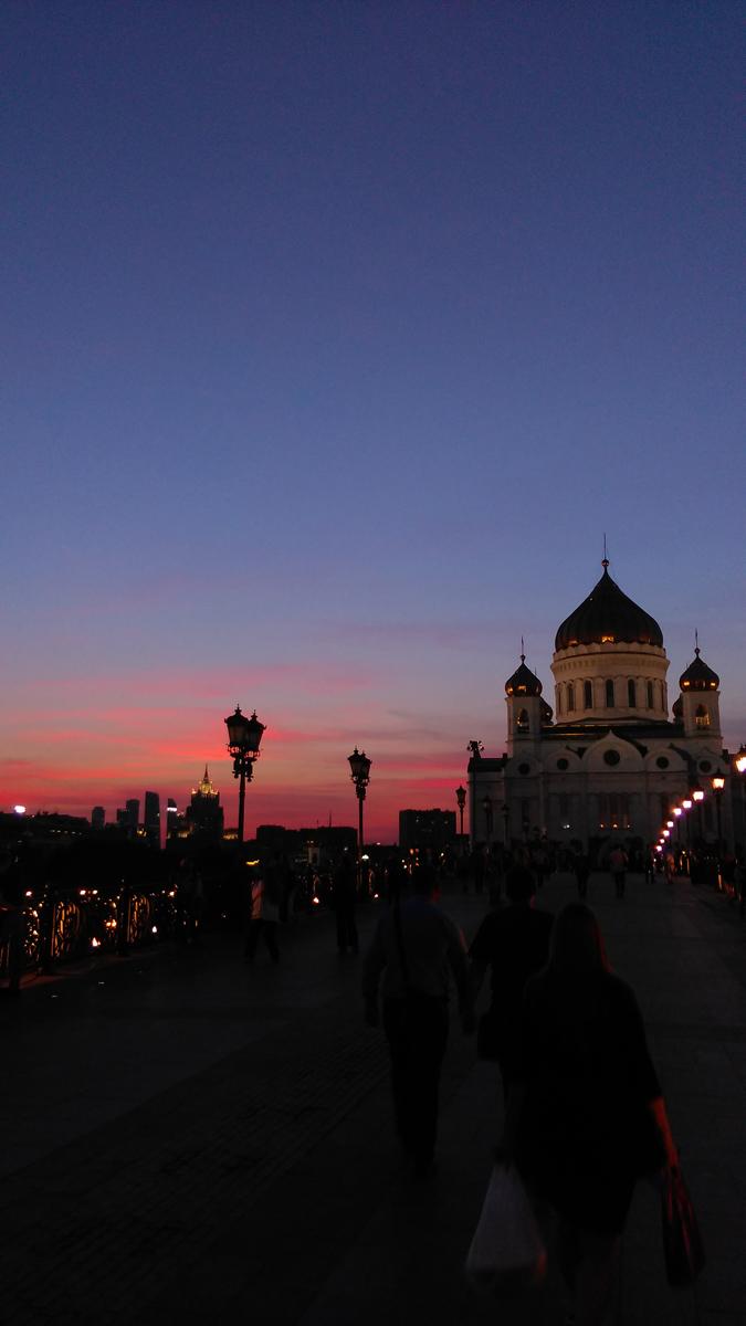 Красивый московский закат...