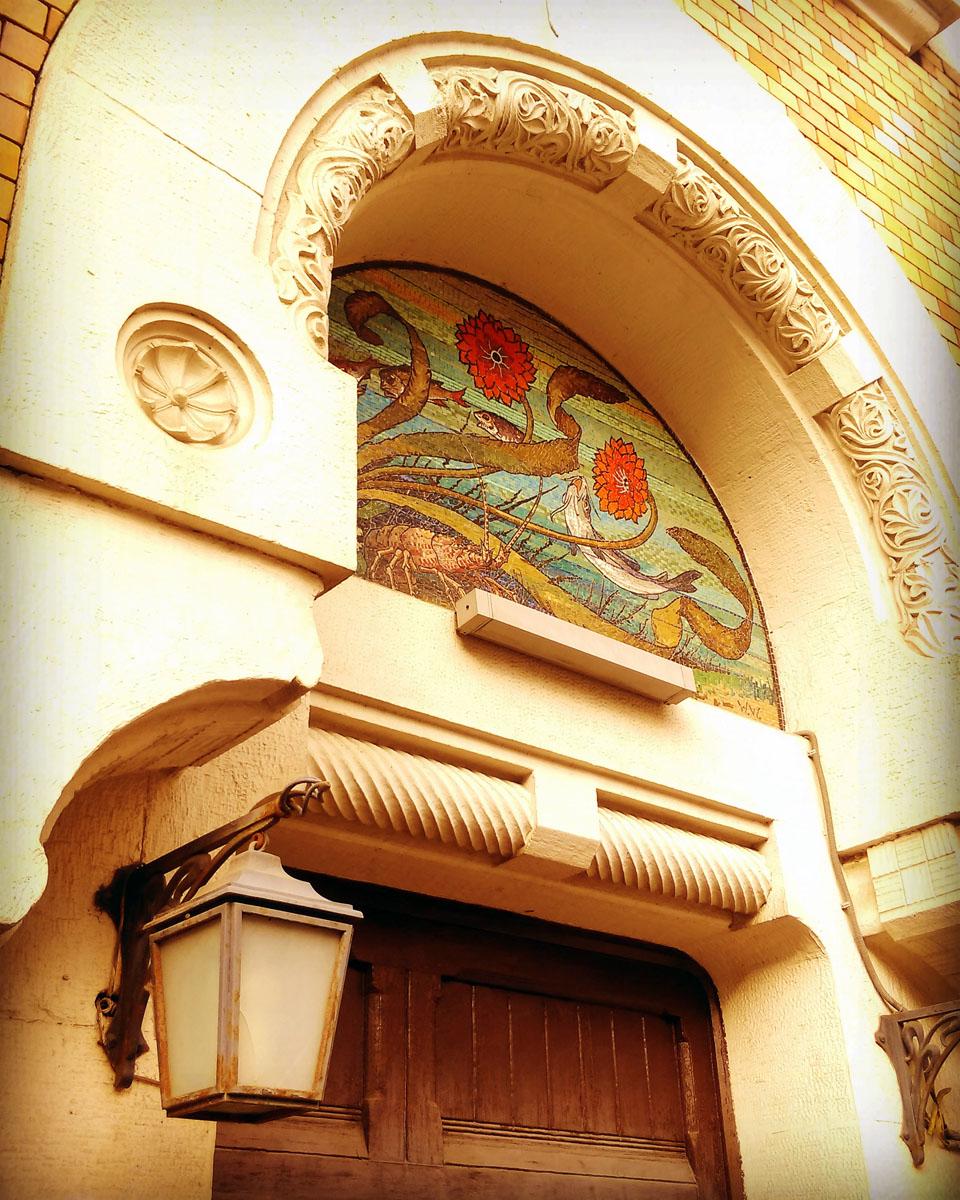 Еще несколько домов архитектора Льва Николаевича Кекушева... Особняк Листа. Мозаика на входной дверью.
