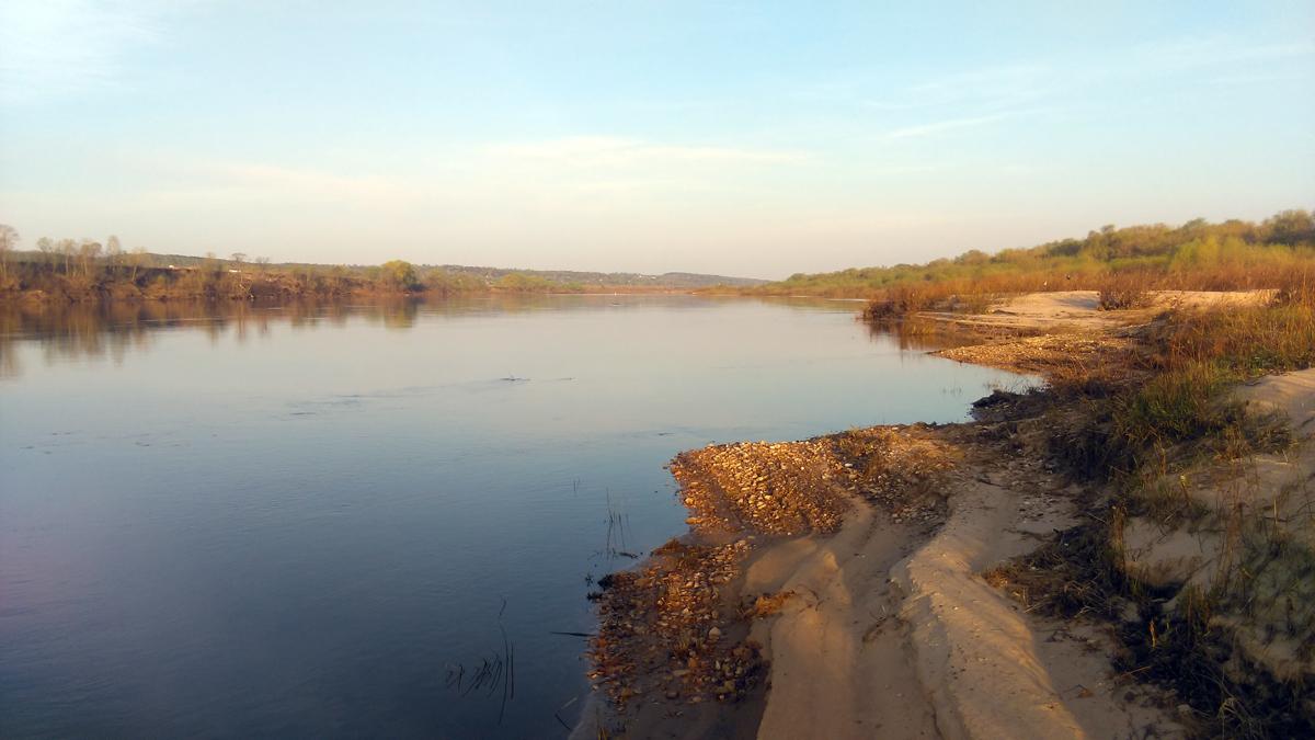 Утренняя Ока, вид вверх по течению