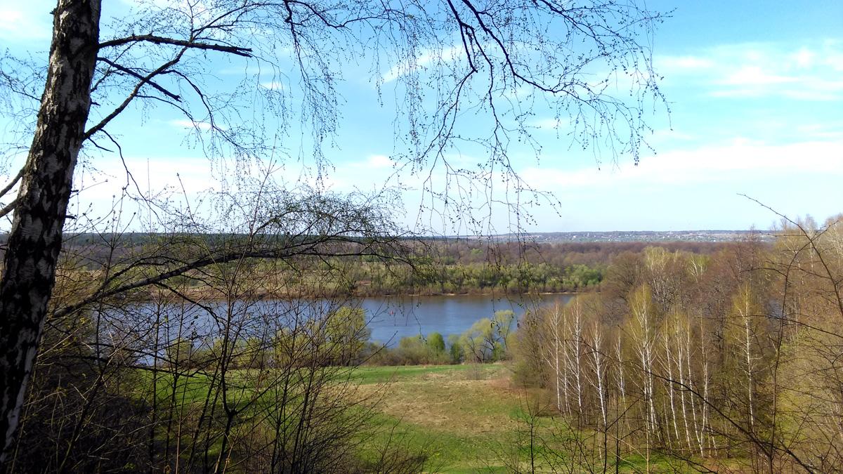 А виды отличные... Далеко видать. На горизонте видно Турово. Конечно, строения усадьбы с такого расстояния не рассмотреть, но они там есть :-)