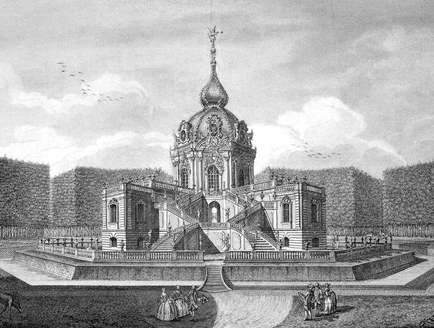 Павильон Монбижу  (моя драгоценность). Архитекторы С. И. Чевакинским, Б.-Ф. Растрелли.