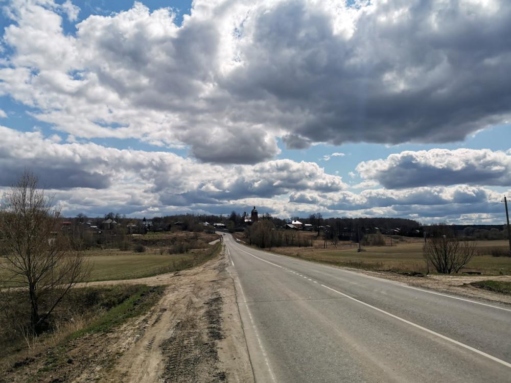 Небо над дорогой между Михнево и Липитино...