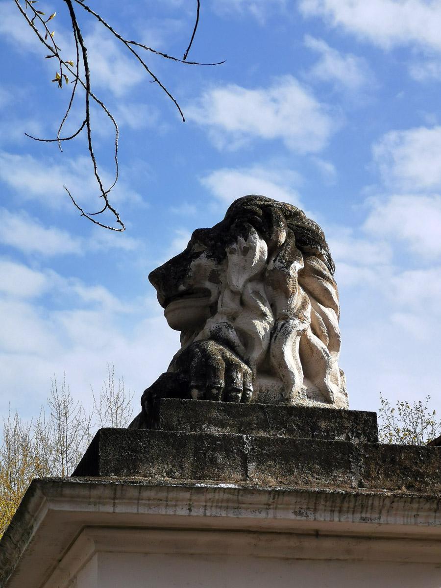 Но и в Москву на работу я тоже ездил. По дороге расположена 4 городская больница (бывшая Павловская) Один из львов на воротах больницы.