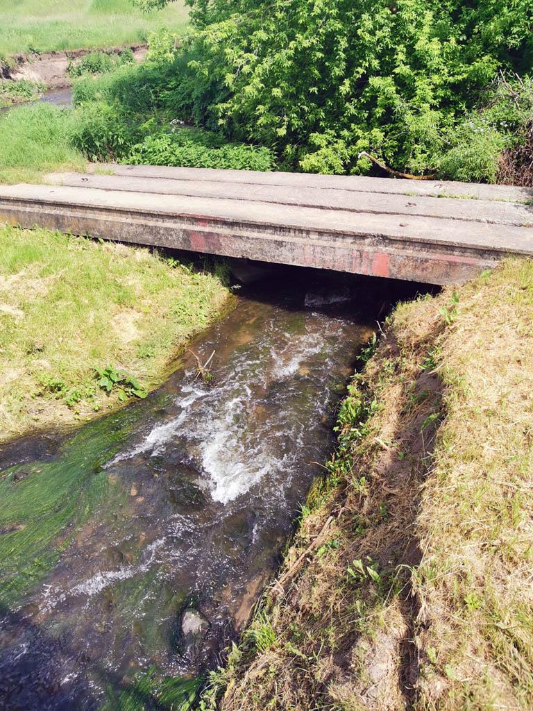 Пешеходный мост через речку Кремница