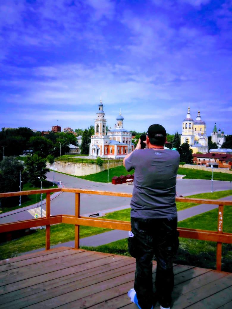Автор на Смотровой площадке на месте кремлевской башни.