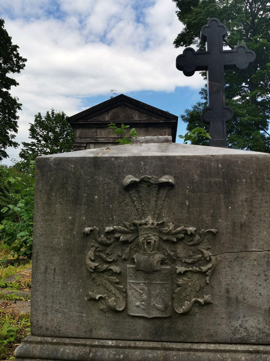 Надгробие на могиле адмирала, морского министра А.А, Бирилева