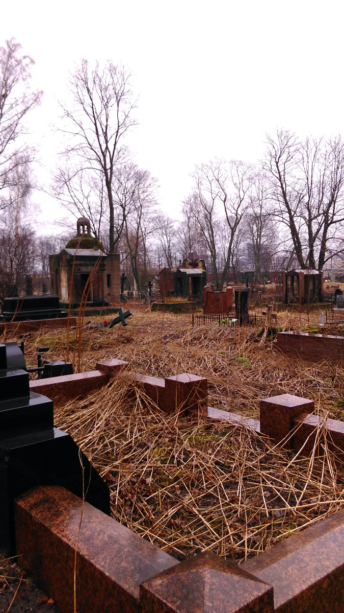 Так Никольское кладбище выглядело в середине этого марта... Был там буквально минут 10...