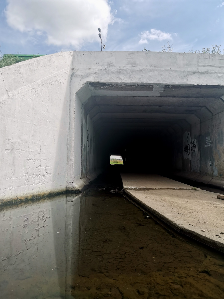 Но вернемся к нашему походу... Подземно-надводный переход под трассой М-4 Дон.