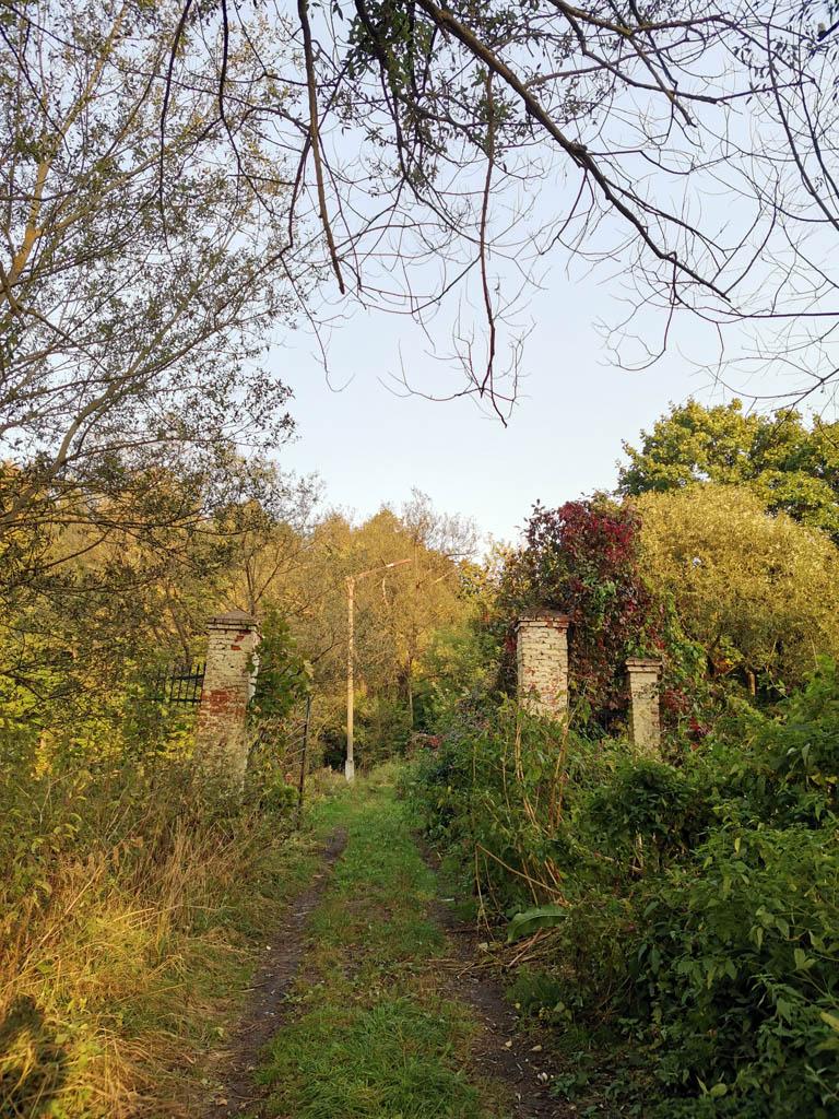 Заброшенные ворота дамбы между каскадными прудами в селе Лобаново.