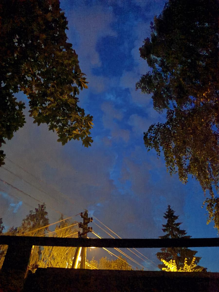 Фоткал вечернее небо....
