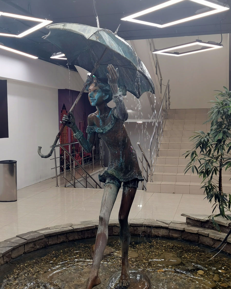 Симпатичная скульптура-фонтан в БП Румянцево...
