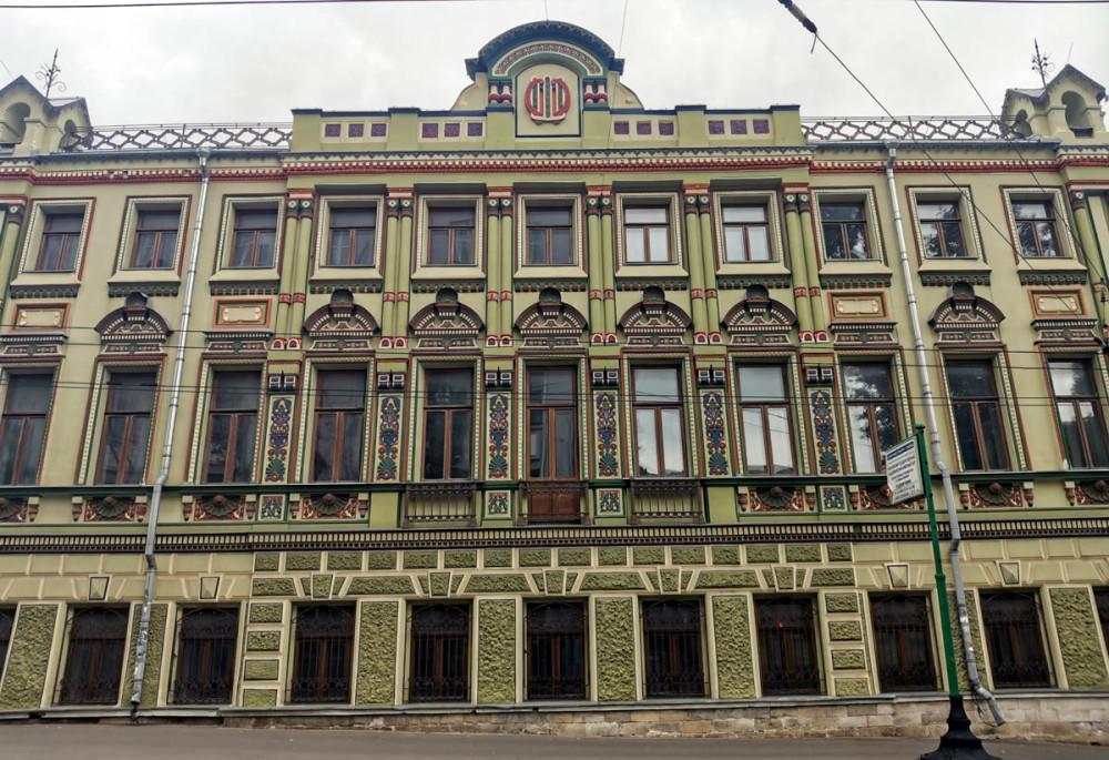 Городская усадьба С. М. Шибаева. Построен в 1772 году. Перестроен в 1874–75 годах.