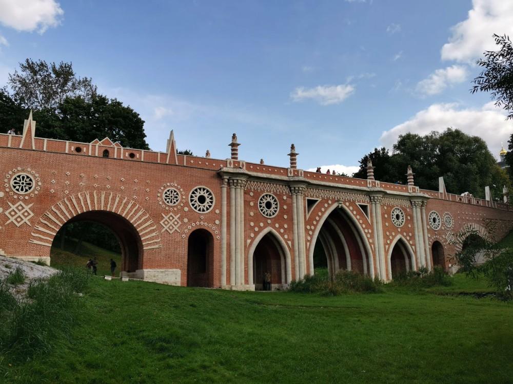 12 сентября 2020г. Москва. Государственный музей-заповедник «Царицыно». Большой («Готический») мост.