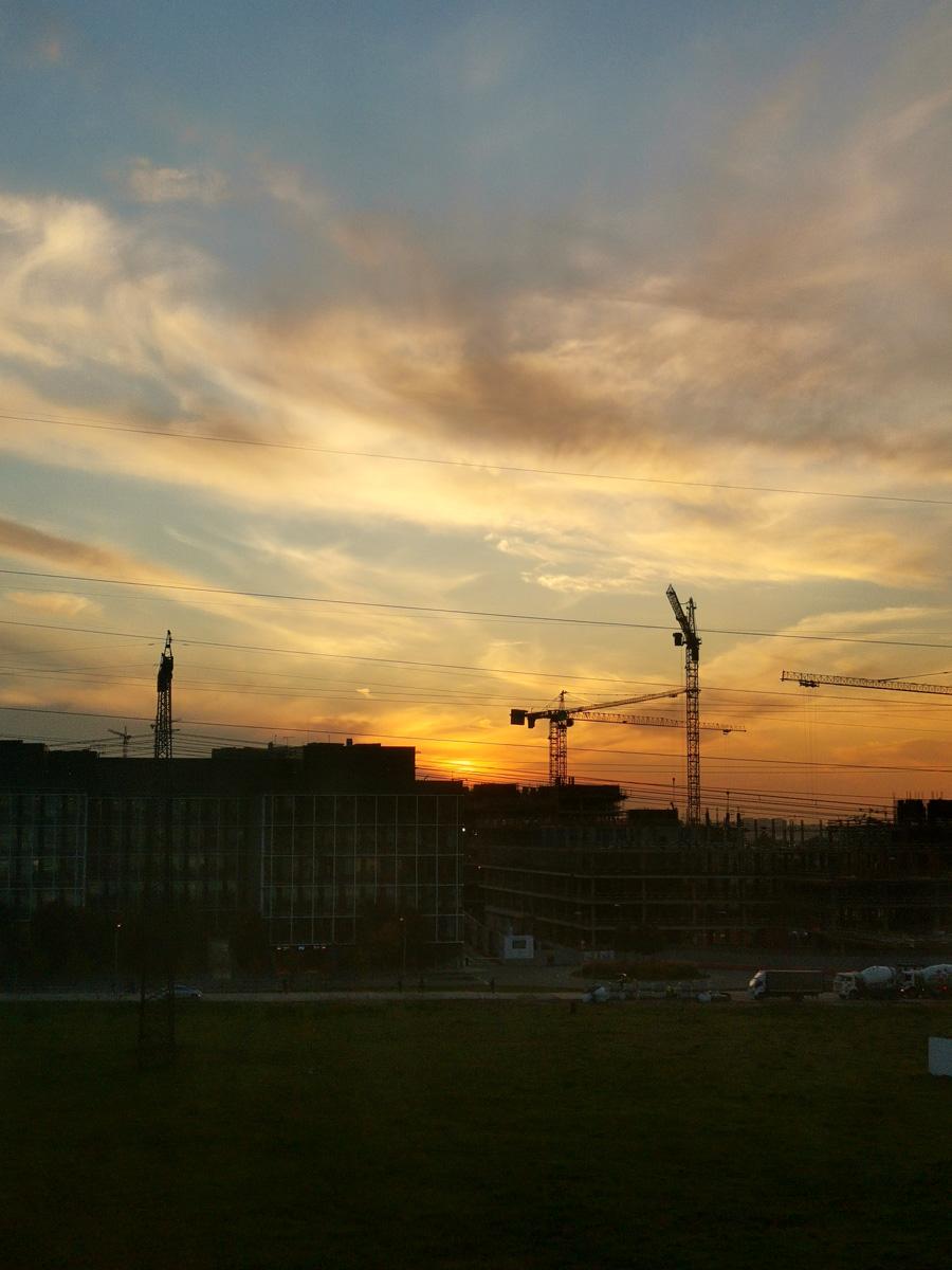 Вечернее небо над Румянцево...