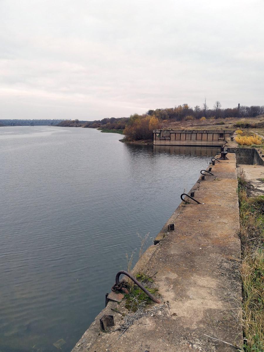 Пристань бывшего Каширского судостроительного завода.