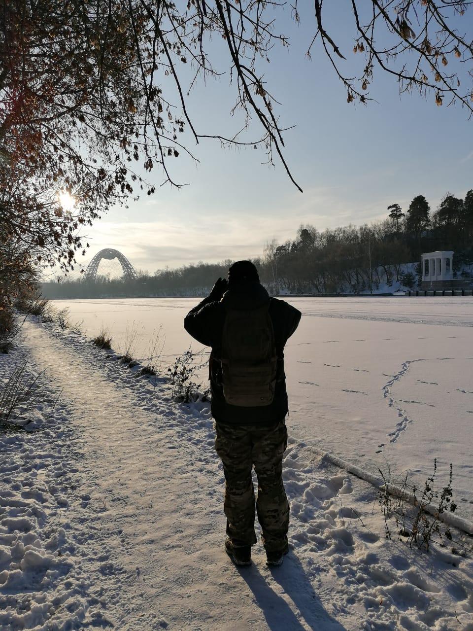 Фотографирую против солнца Живописный мост...