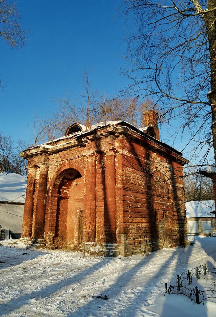Ансамбль конного двора Хорошевской конюшенной слободы. Проездная башня с гауптвахтой.