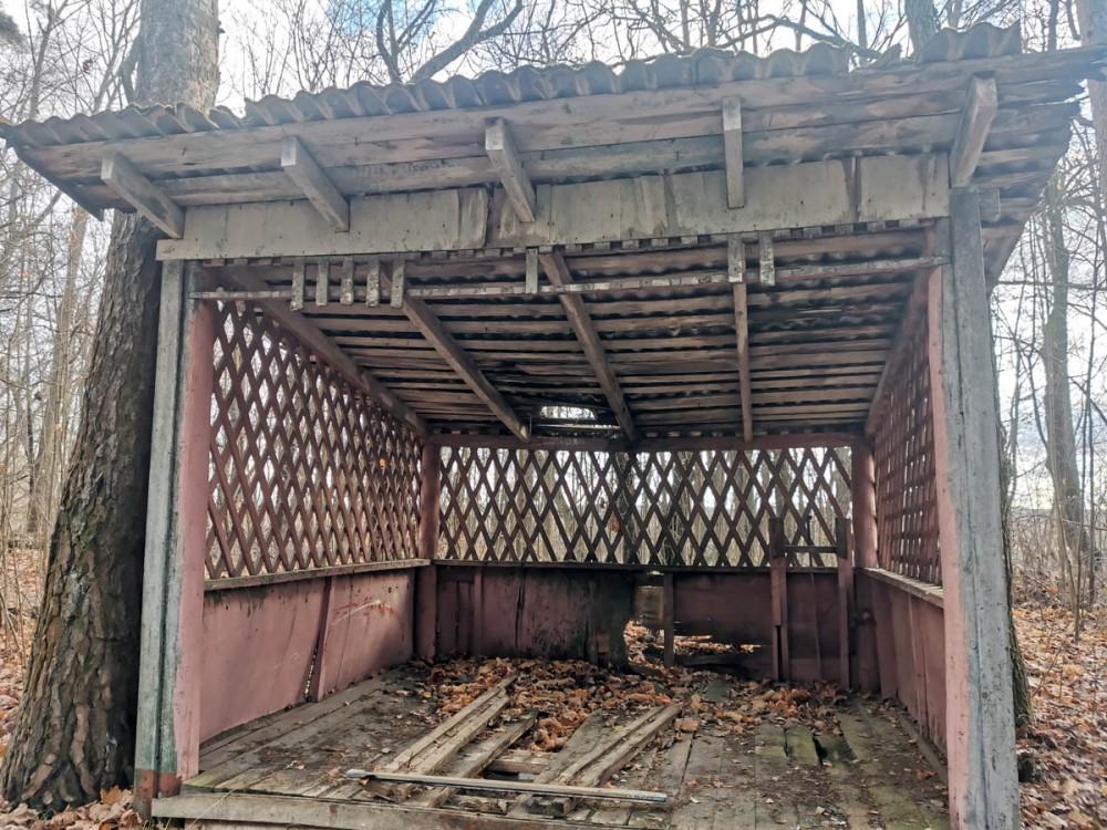 Недалеко от затона расположены остатки заброшенных пионерского лагеря и детского сада