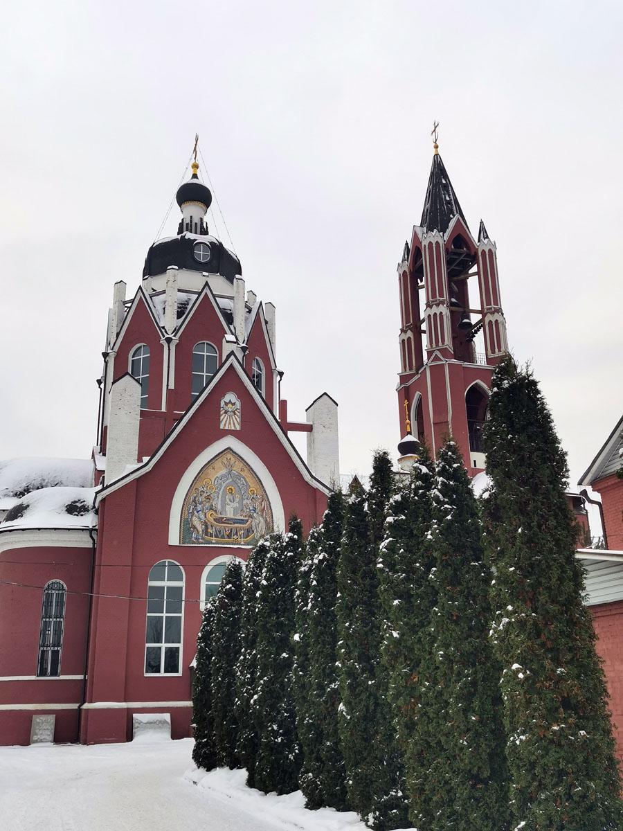 Щёлковский Троицкий собор построен в 1909–16 гг. по проекту архитектора С.М. Гончарова.