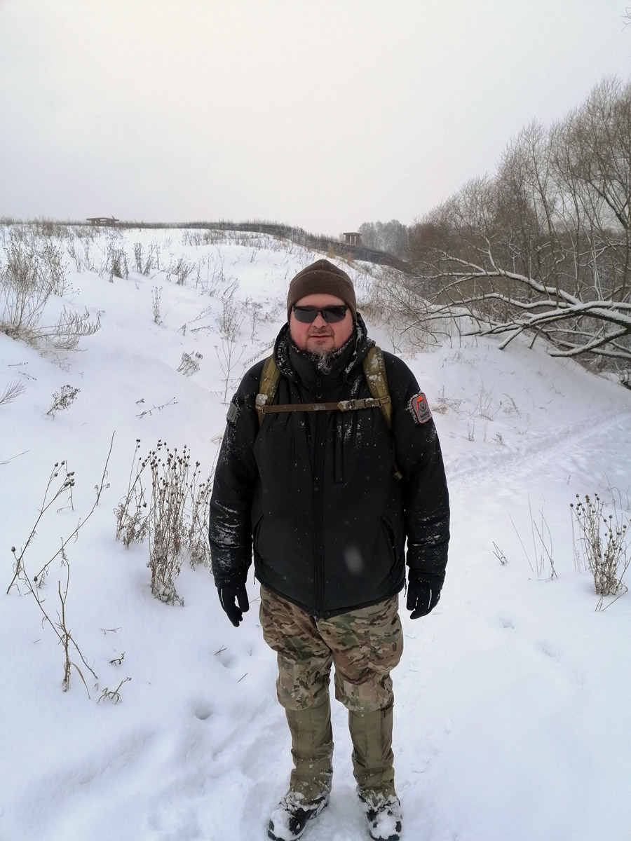 Довольный автор фоторепортажа о прогулке вдоль Рожайки.