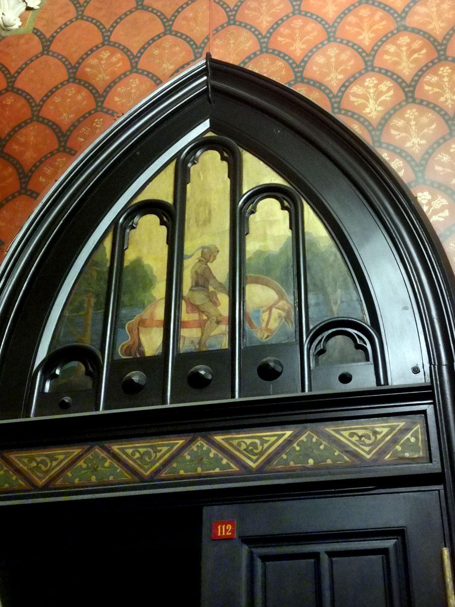 Роспись десюдепорта входной двери вестибюля.