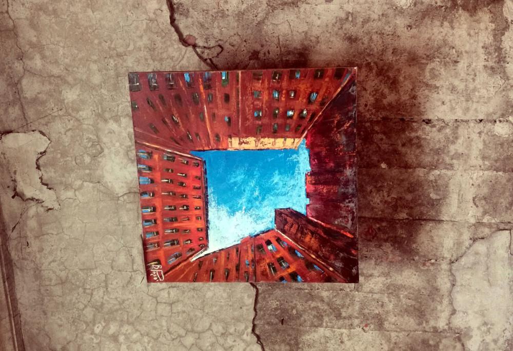 Картина на потолке...