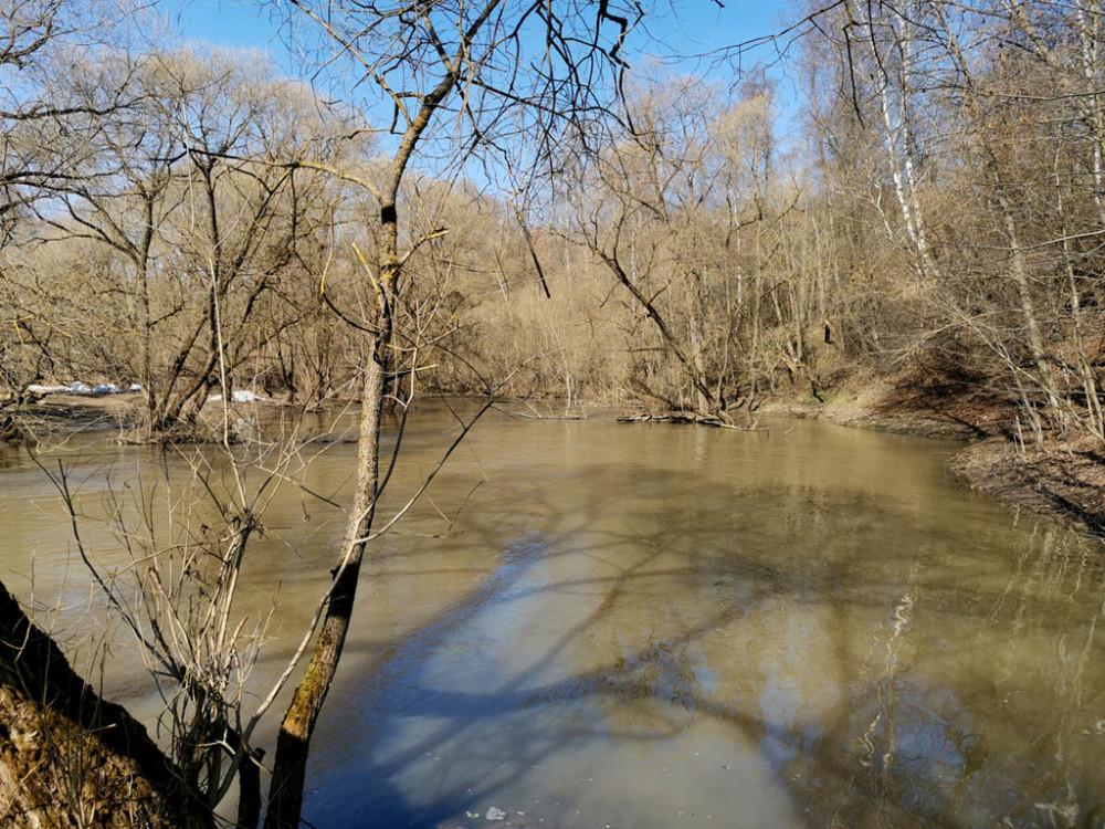 Дошли до брода в районе каменоломни Никиты. Мои худшие предположения подтвердились... Дальше дороги вдоль реки нет. Уровень воды выше тропы.