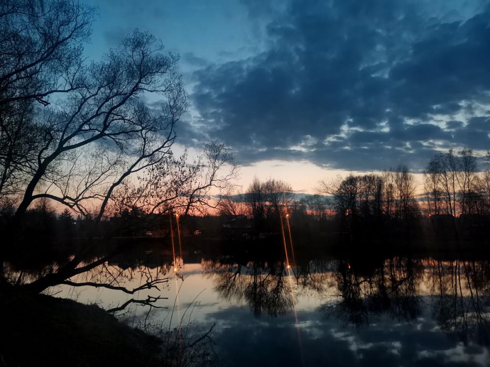 2021год. Один из красивых апрельских закатов...