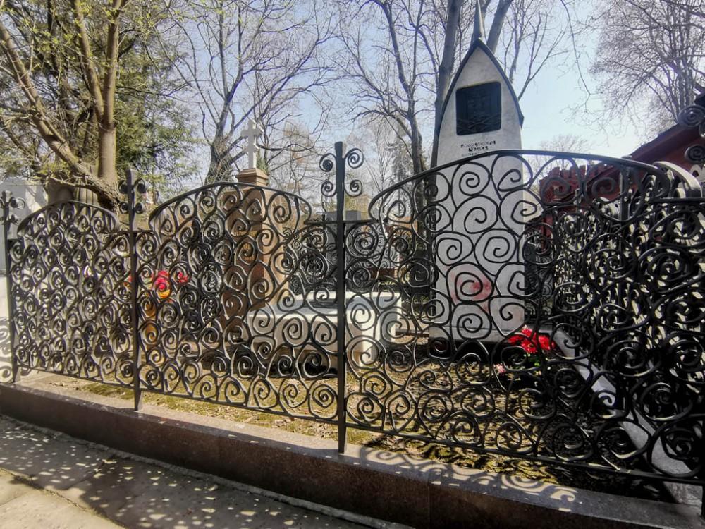 А это ограда и памятник на могиле Антона Павловича Чехова.
