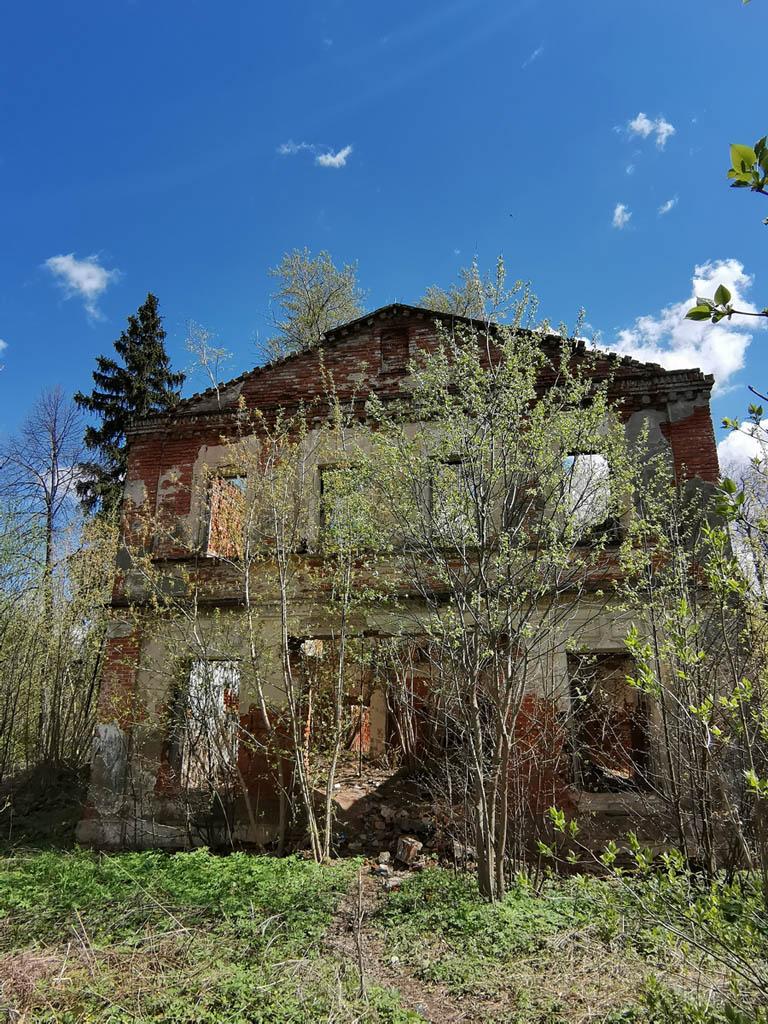Руины главного дома усадьбы Кузьминское.
