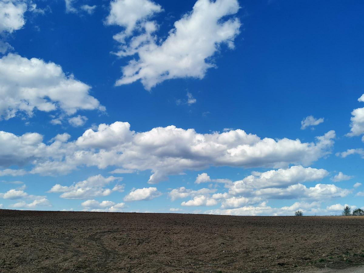 Облака и синее весеннее небо!