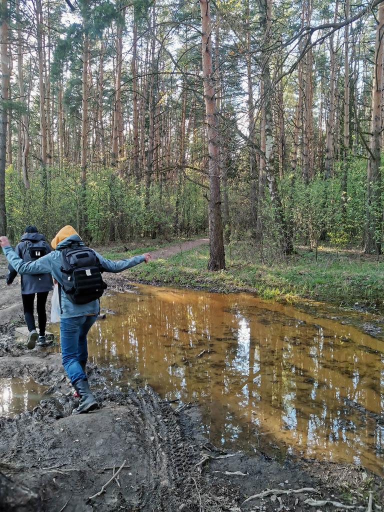 Если на полях солнце и ветер высушили землю, то в лесах еще довольно сыро...