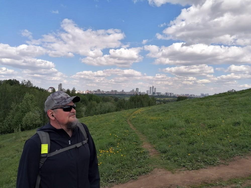 Снова Москва. Автор на склоне Большого (Восточного) Крылатского холма