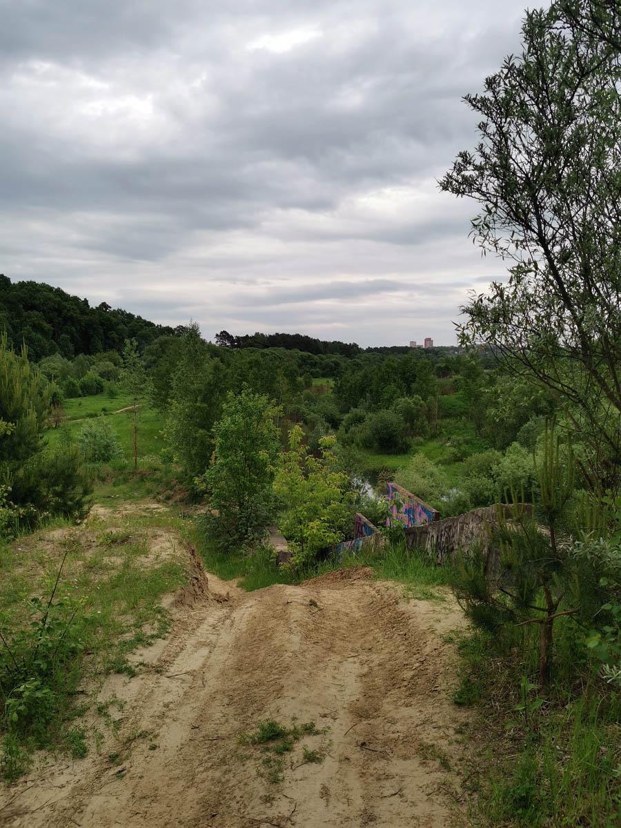 Вид с плотины в сторону Подольска.