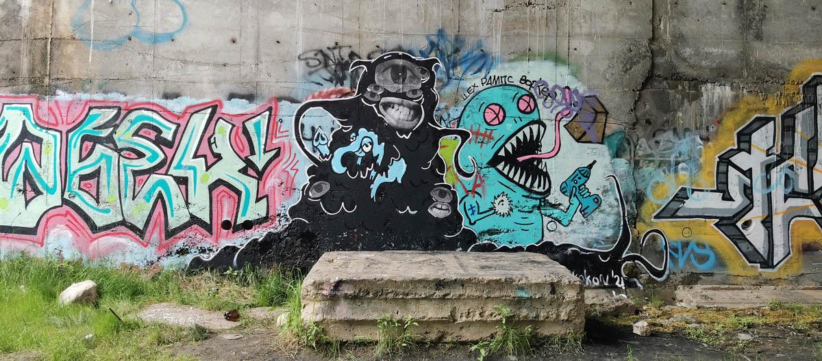 Вот такие чудовища обитают в Подольском море...