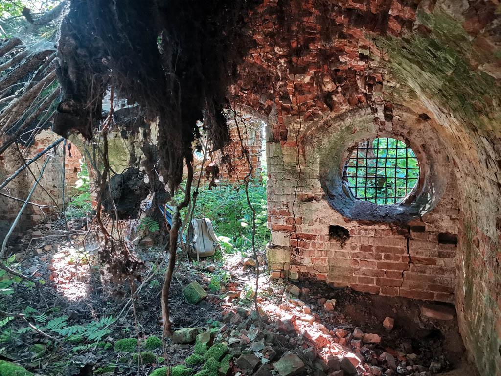 В подвале (или цокольном этаже) главного дома усадьбы Алешково.     #позабытпозаброшен