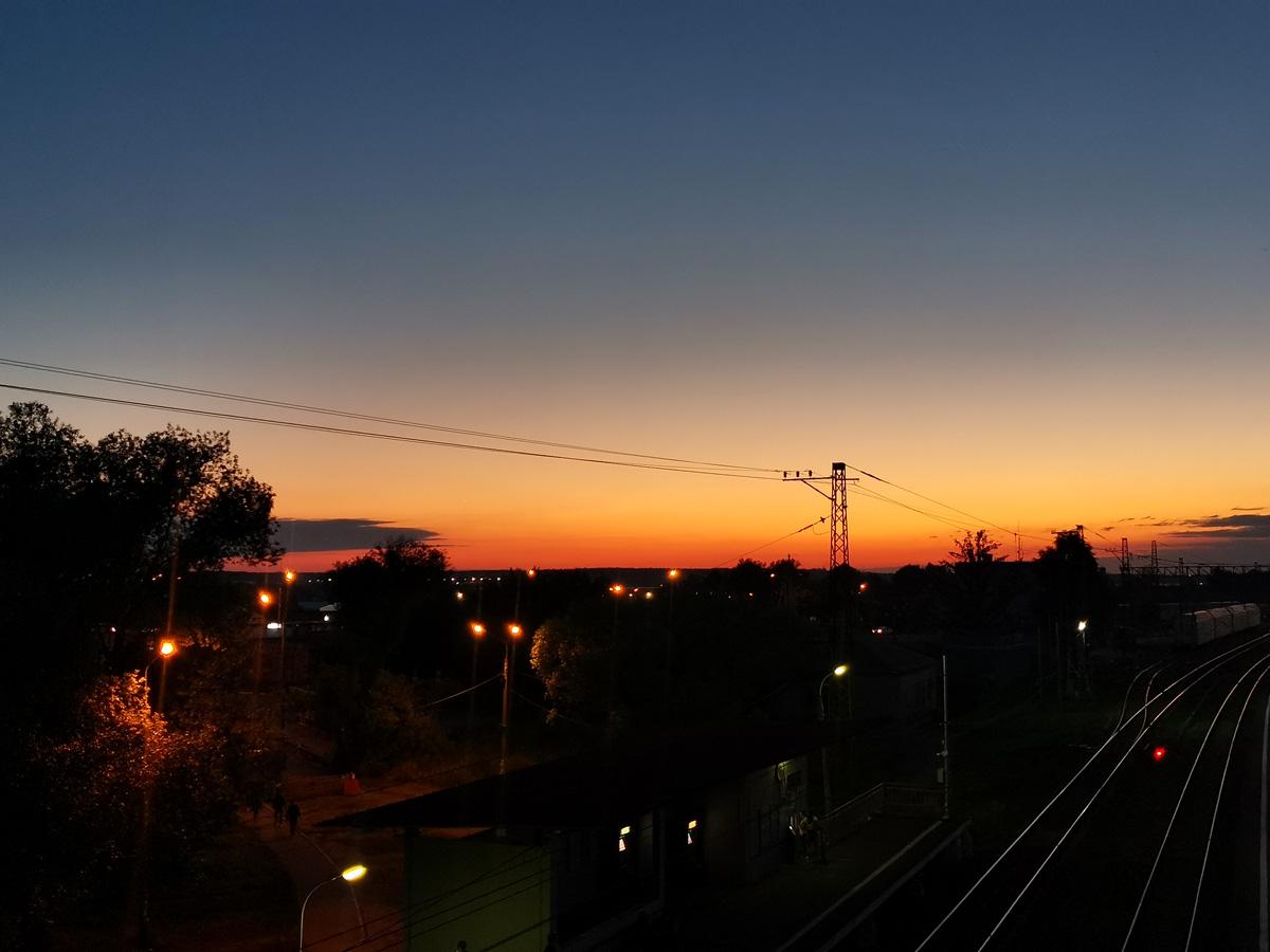 3 июля 2021г. Домодедовский городской округ. Красивый закат в финале нашего похода выходного дня.