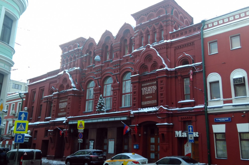 1884г. Театр Парадиз. Здание возведено по проекту арх. К. В. Терского и Ф. Н. Кольбе на основе зданий усадьбы Глебовых-Стрешневых. Шехтель проектировал фасад театра. Сохранился частично.