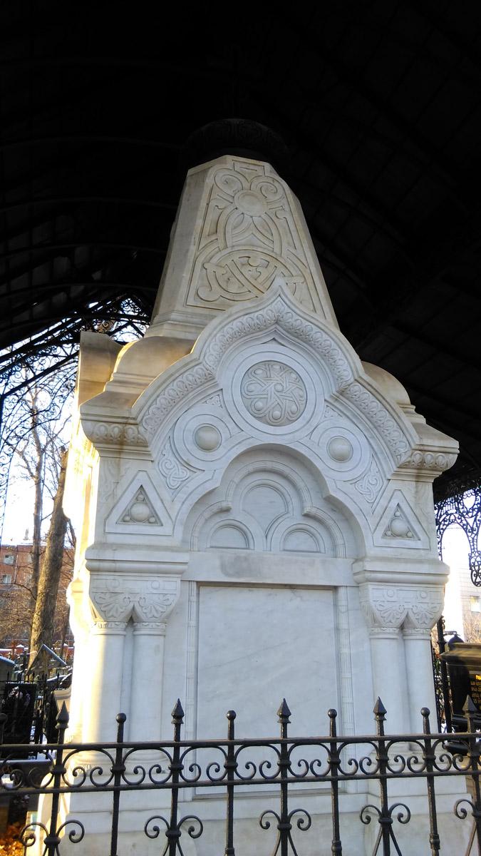 1889г. Часовня-памятник над захоронением Т. С. и М. Ф. Морозовых на Рогожском кладбище