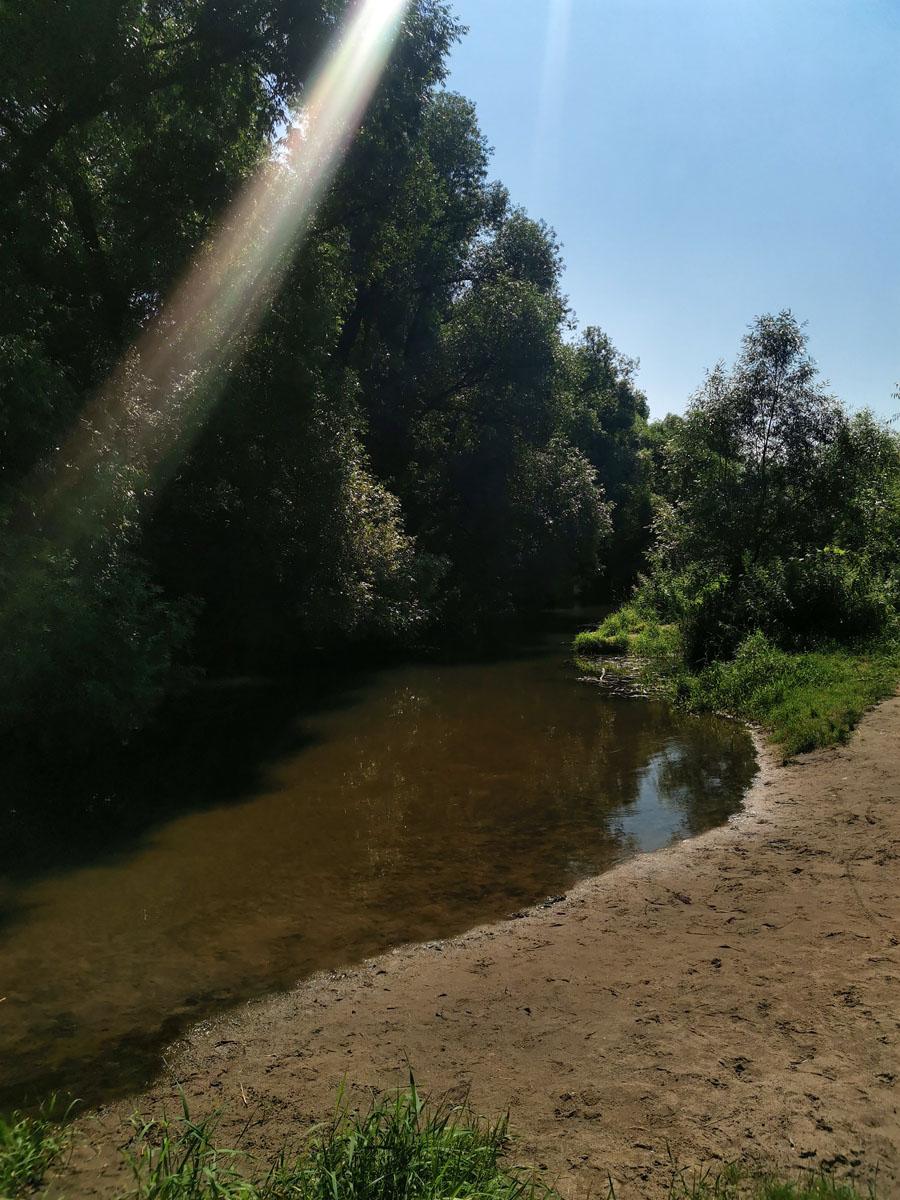 Река Рожайка в районе бывшей Константиновской шерстепрядильной фабрики.