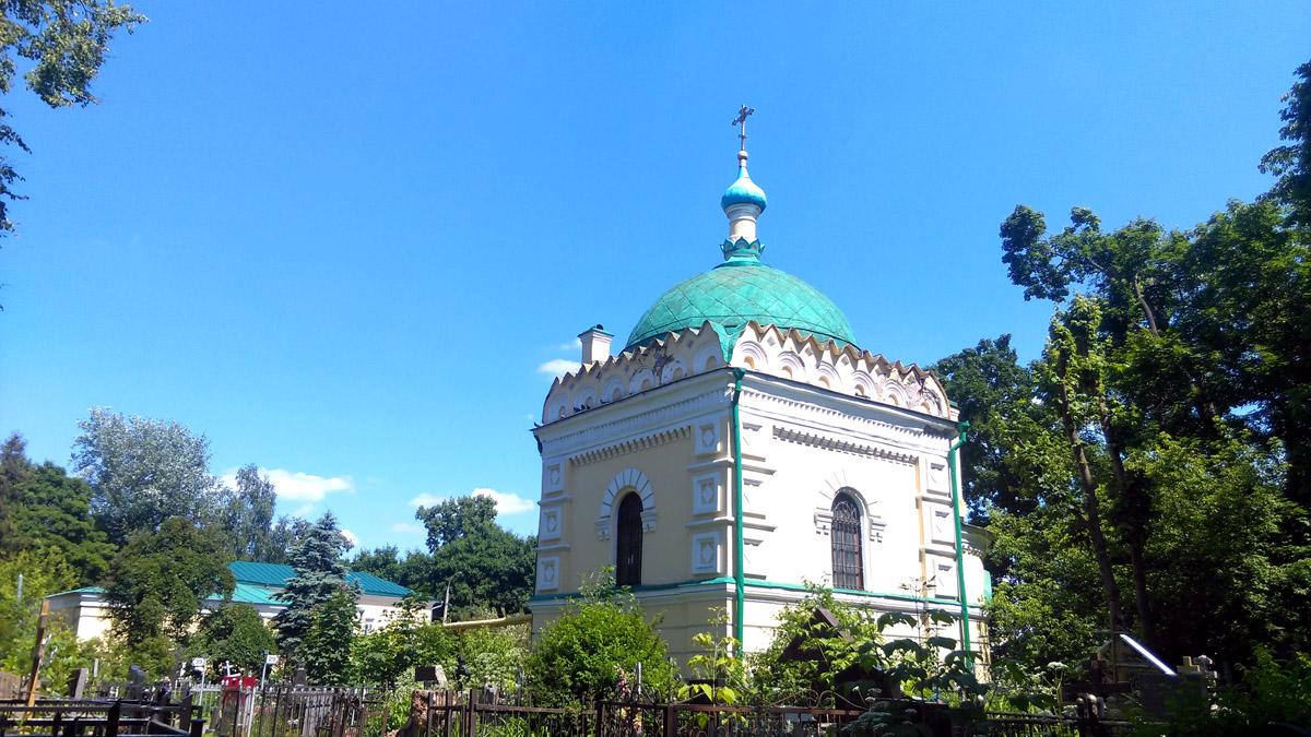 Храм-часовня Николая Чудотворца над могилой Н. И. Гребневского на Даниловском кладбище.