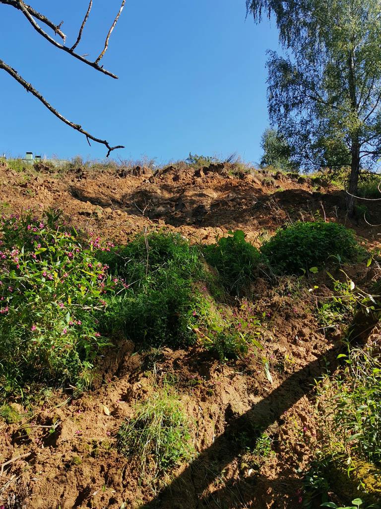 Мы думали, что с тех пор склон зарос травой, а тропинку утоптали другие туристы...