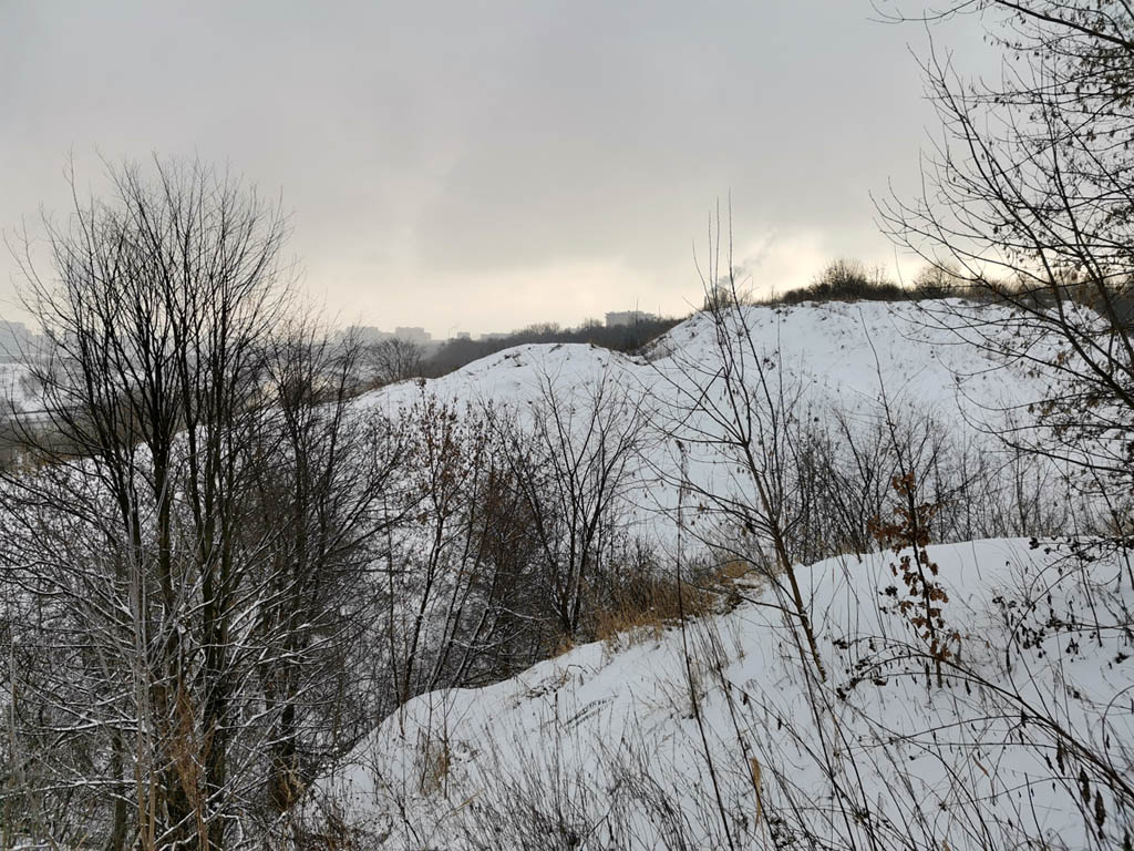 Вид на Дьяковский холм с противоположенного берега Дьяковский овраг
