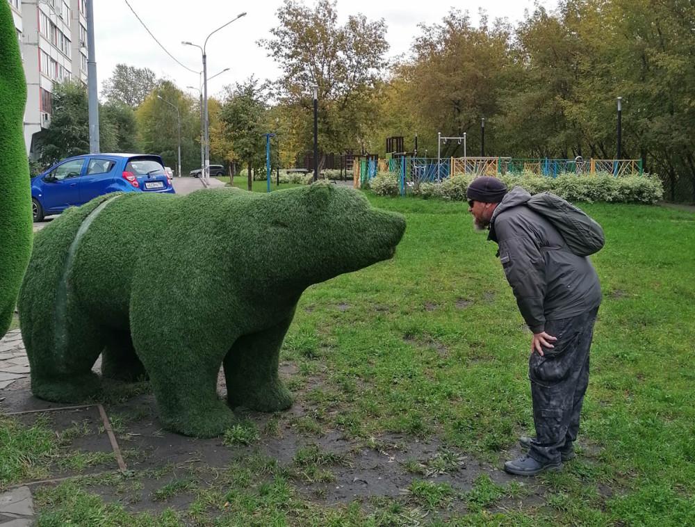 Уже традиционно играю в гляделки с медведем...