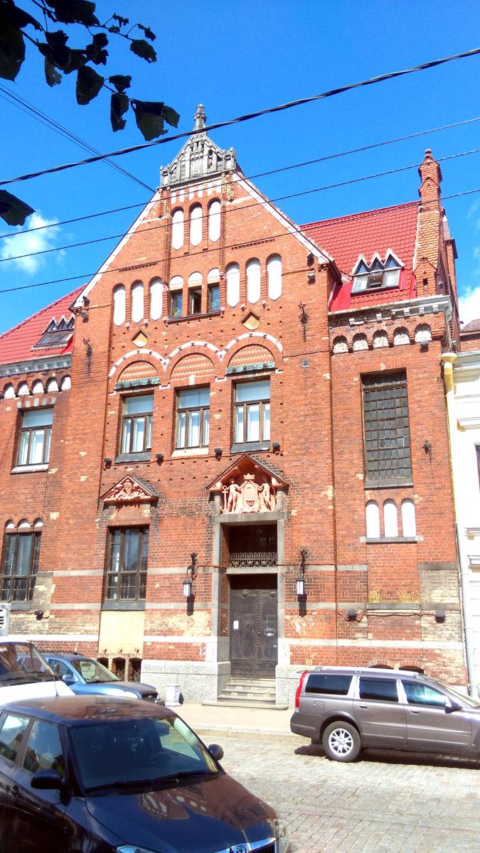 Здание бывшего Выборгского отделения Банка Финляндии (Suomen Pankki). Здание построено в 1910 году. Архитектор - Густав Нюстрём