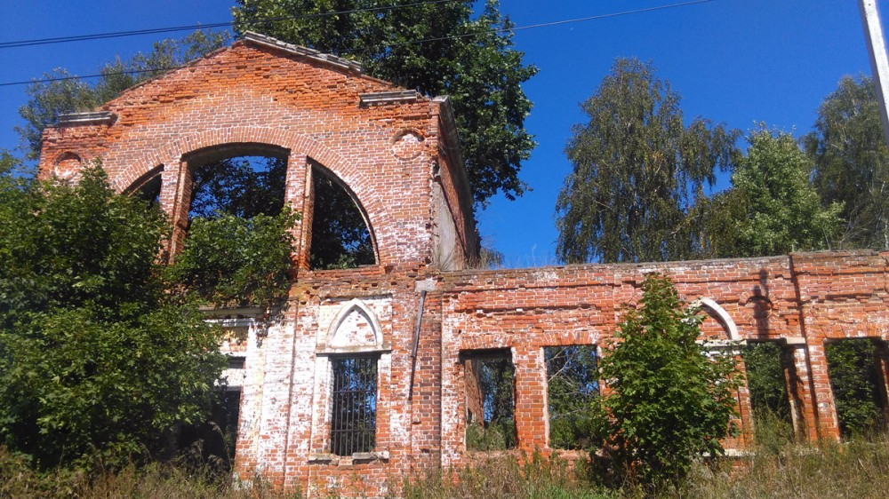 25 августа 2018. Руины конного двора усадьбы Алёшково